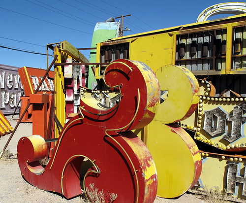 Touristic attractions of Las Vegas : Neon museum, las vegas
