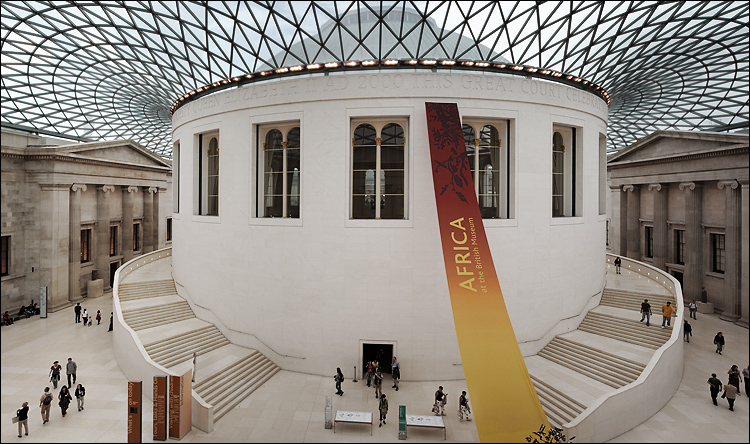 Touristic attractions of London UK : British Museum