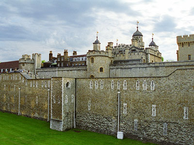 Touristic attractions of London UK : The Tower of london