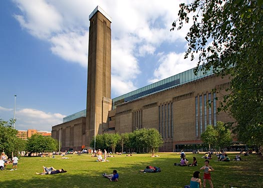 Touristic attractions of London UK : Tate Modern