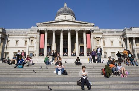 Touristic attractions of London UK : The National Gallery
