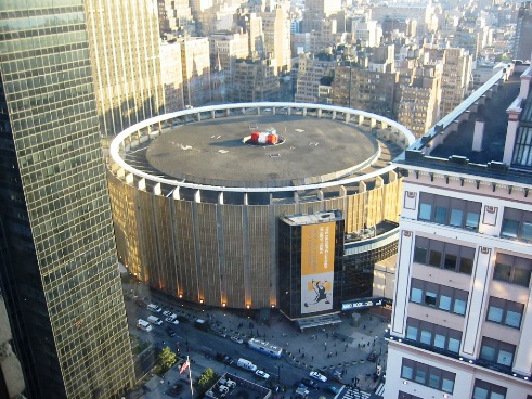 Touristic attractions of New York : The Madison Square Garden