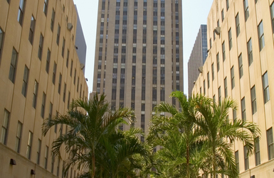 Touristic attractions of New York : The Rockefeller Center