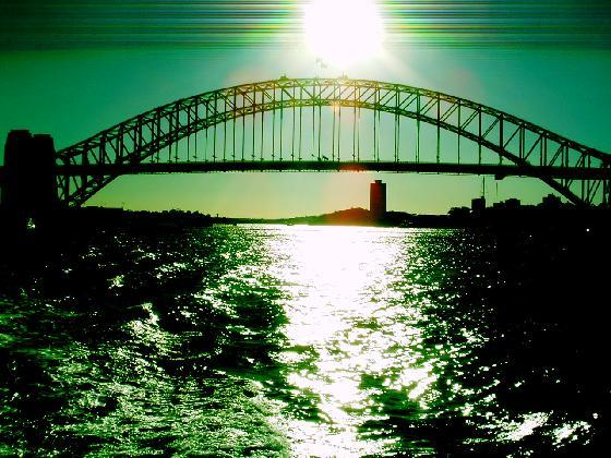 Touristic attractions of Australia : Harbour bridge, Sydney