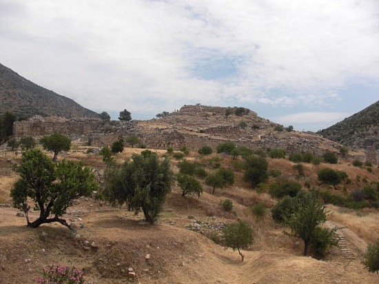 Touristic attractions of Greece : Mycenae Fortress