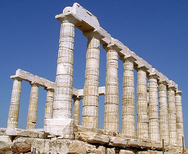 Touristic attractions of Greece : The Temple of Poseidon