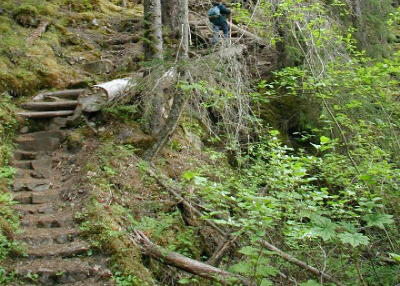 Touristic attractions of Alaska : Chilkoot Trail, Skagway
